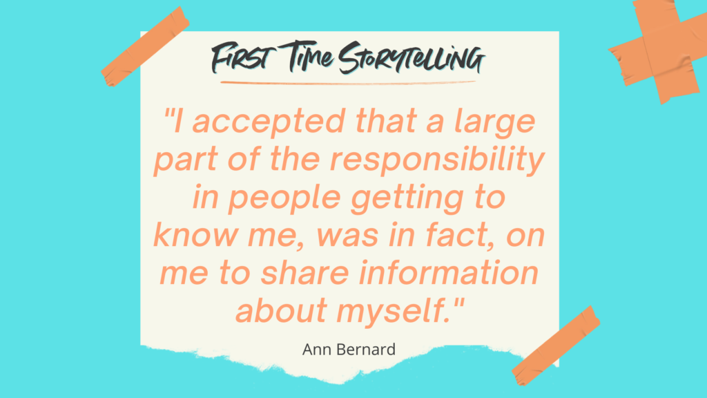 Quote on being responsible to tell story to share who you are